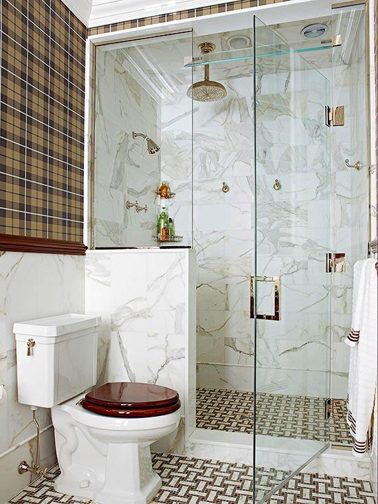 Walk-In Showers for Small Bathrooms Lugares y espacios favoritos - decoracion de baos pequeos