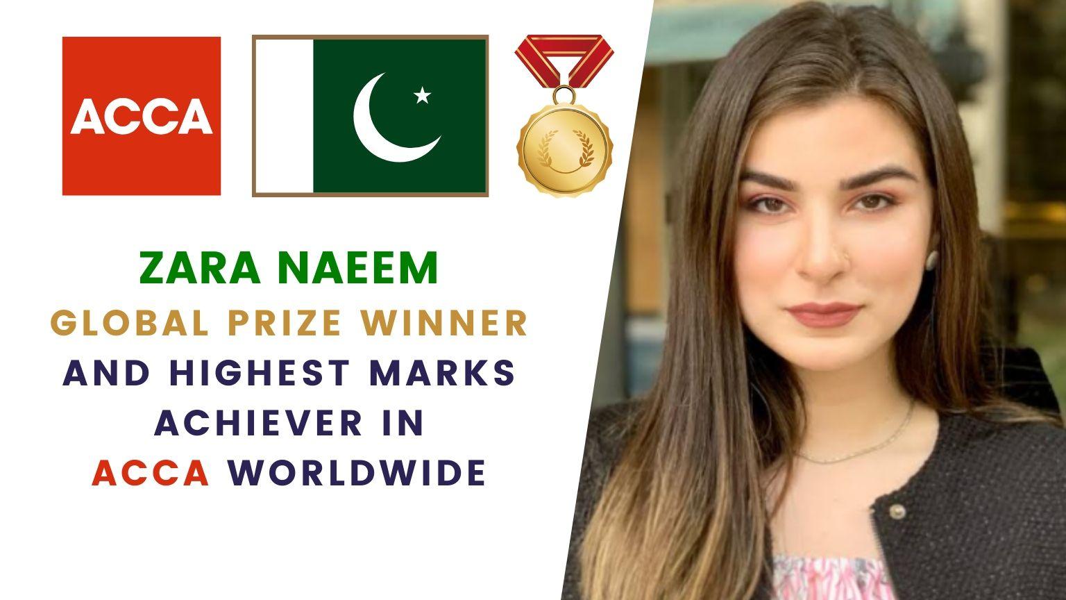 Zara Naeem Dar | 🇵🇰 Pakistani | ACCA Global Prize Winner 🥇