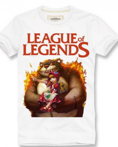 Para homens LOL jogos temáticos camisetas roupas-