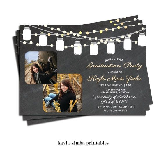 Graduation invitation graduation open house party high school printable includes one file of your choice choose from 4x6 or 5x7 invitation size and choose from jpeg one to a sheet great filmwisefo