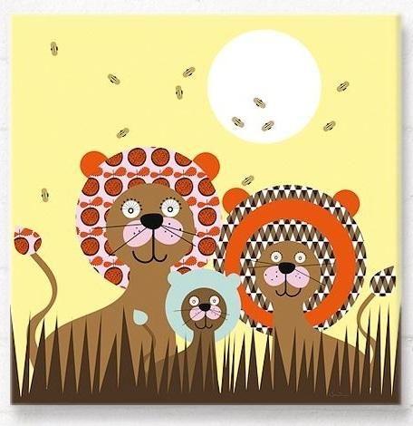 Baltazar lion bright canvas wall art Hippins for baby gifts nursery ...