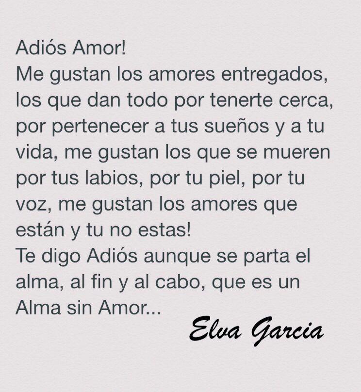 Adios Amor La Mejor Frase Pensamientos Diarios Decir No