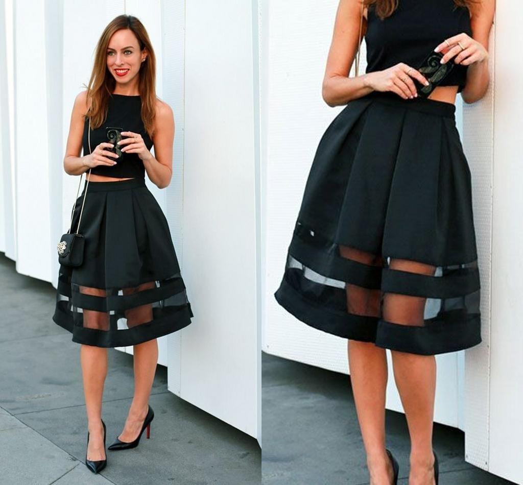 2016 Fashion See Through Black Skirts Women Sexy Tulle Tutu Sheer ...