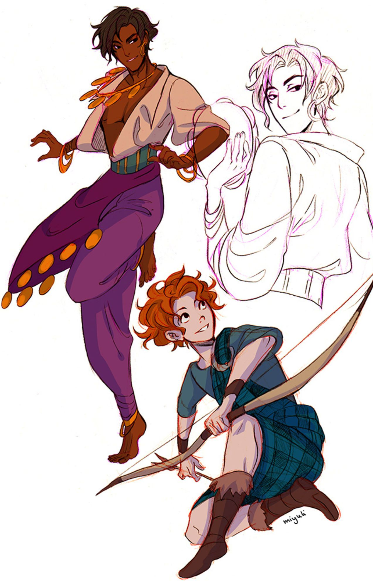 Illustration for article titled Artist perfectly captures genderswapped Disney princesses