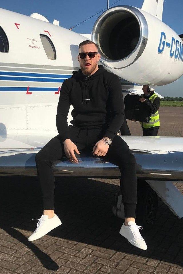 49b6656c86 Conor McGregor wearing Saint Laurent Logo Hoodie