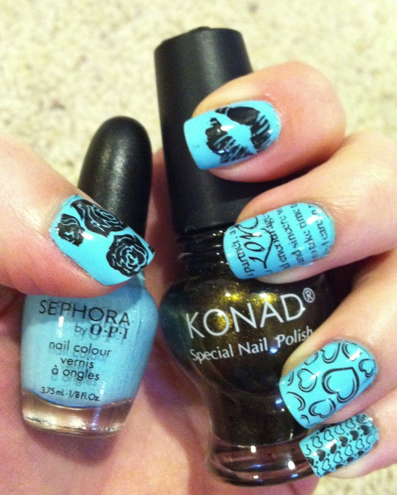 LOVE for Natural Environ-Mint, nail stamping, nails, manicure, OPI ...