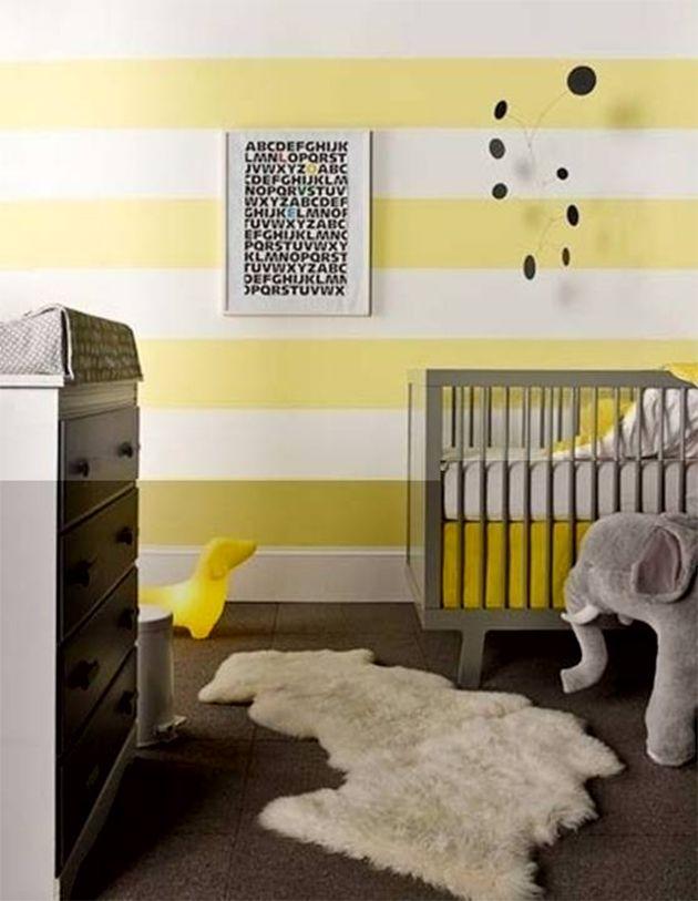 habitacion-bebe-amarillo-gris | decoracion cuarto bebe | Pinterest ...