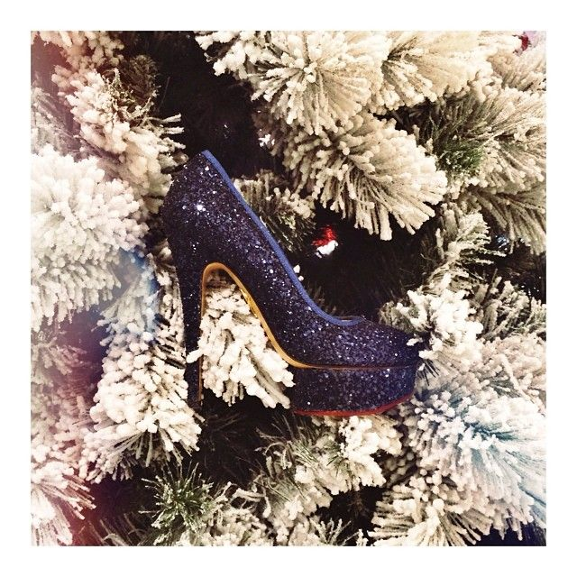 sparkly pumps | Charlotte Olympia