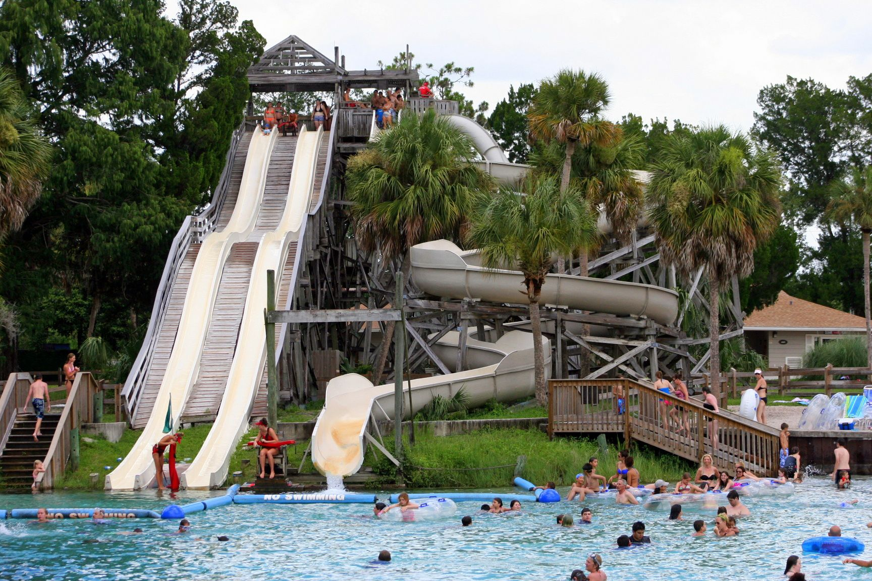 The water slides are open daily at Weeki Wachee Springs