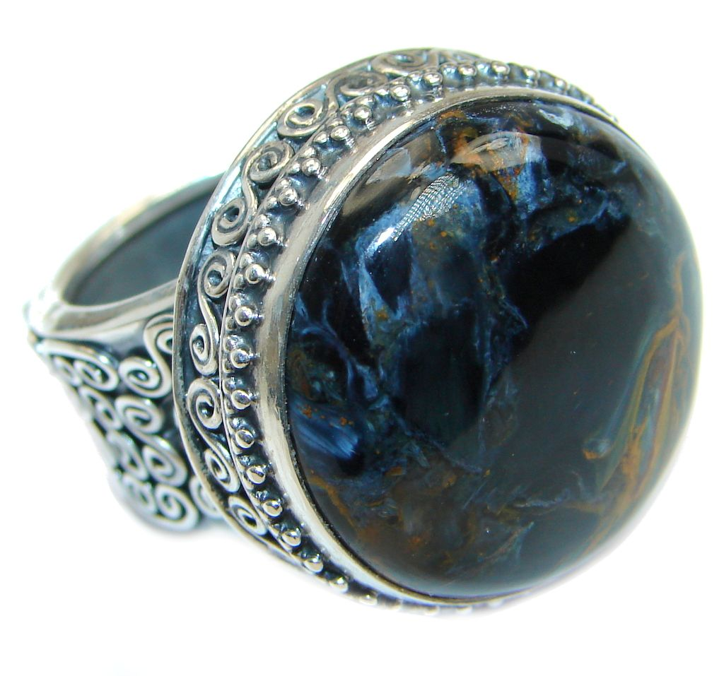 ana size handcrafted by ring pietersite sterling rings silver co products