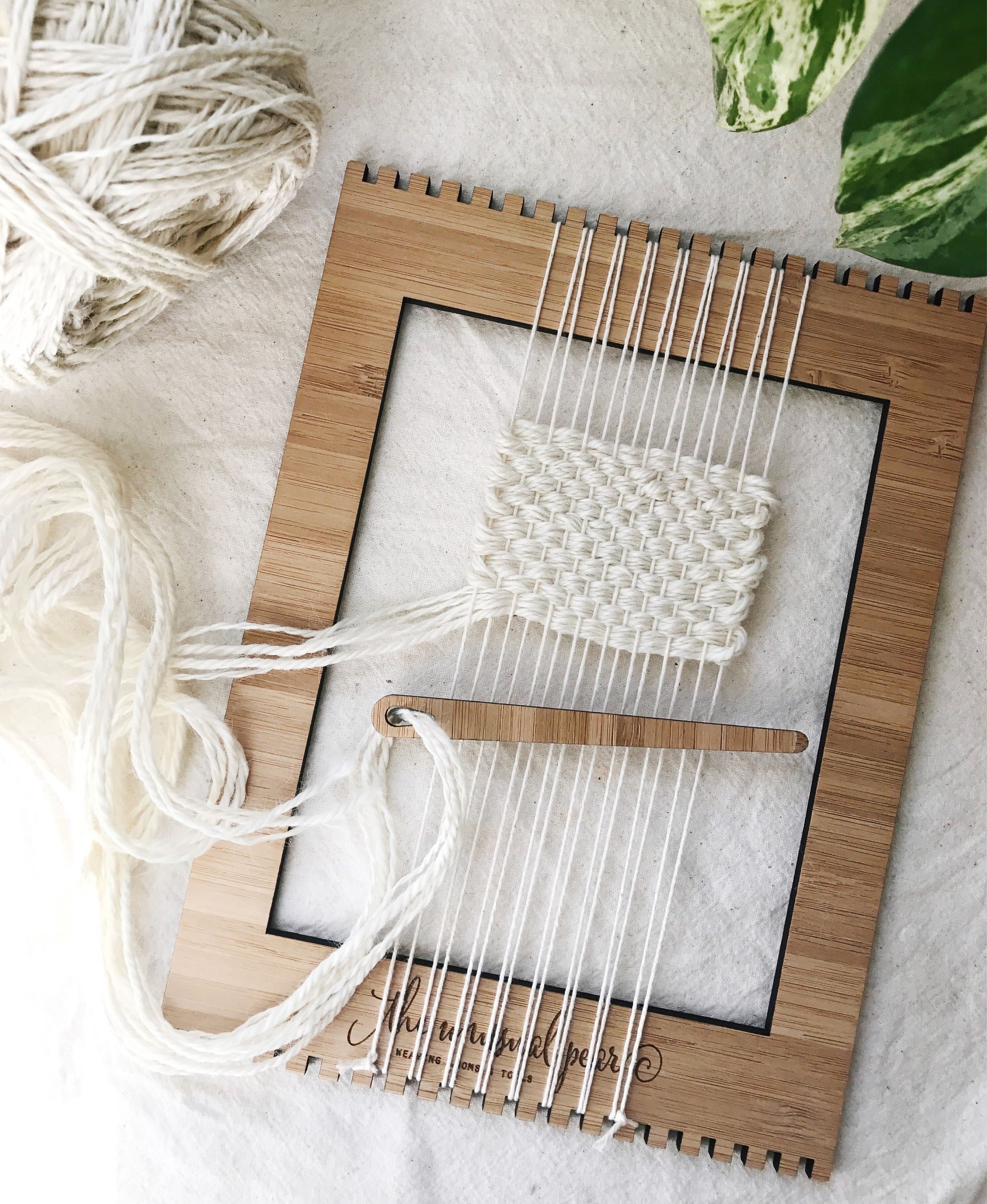 The Small Bamboo Weaving Loom | Weaving | Pinterest | Tejer tapices ...