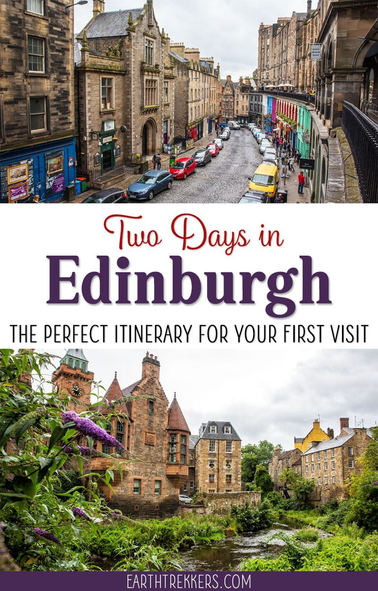 Edinburgh, Scotland: Two Day Itinerary. Best things to do with 48 hours in Edinburgh, including Arthurs Seat, Old Town, Royal Mile. #edinburgh #scotland #itinerary #travelideas