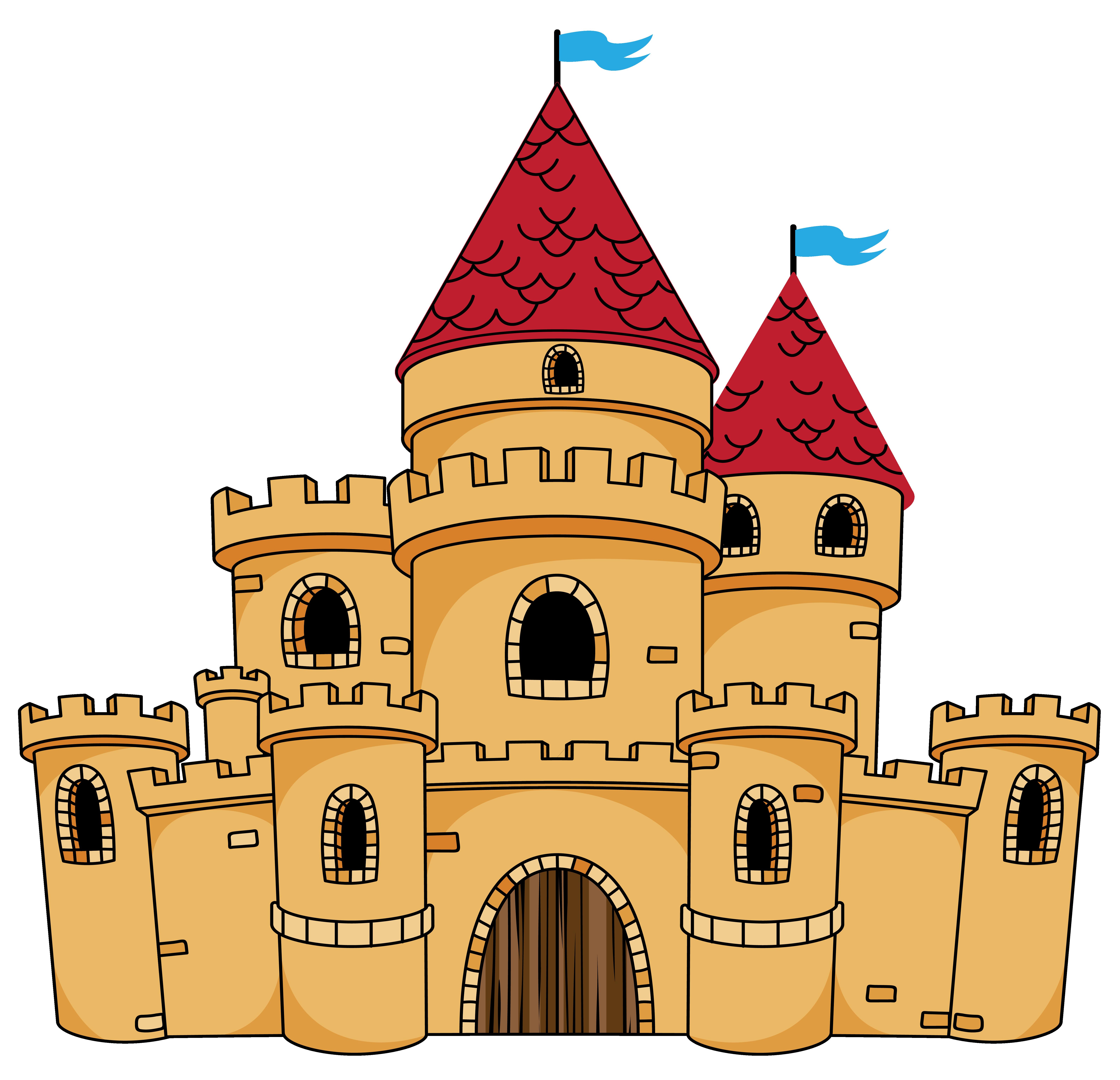 Attractive Disney Castle Coloring Pages Frieze