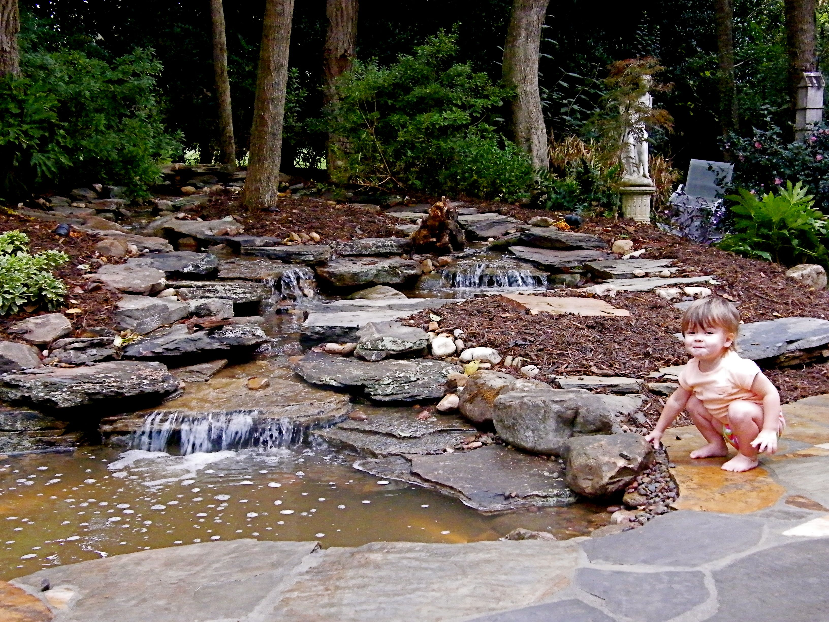 Backyard Stream By All Naturan Streams Landscaping Backyard Water Feature Pond Landscaping Water Features