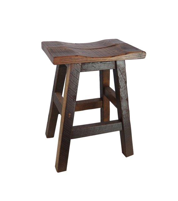 Barnwood Bar Stools Saddle Seat 24 Or 30 Wood Bar Stools Rustic Bar Stools Saddle Seat Bar Stool