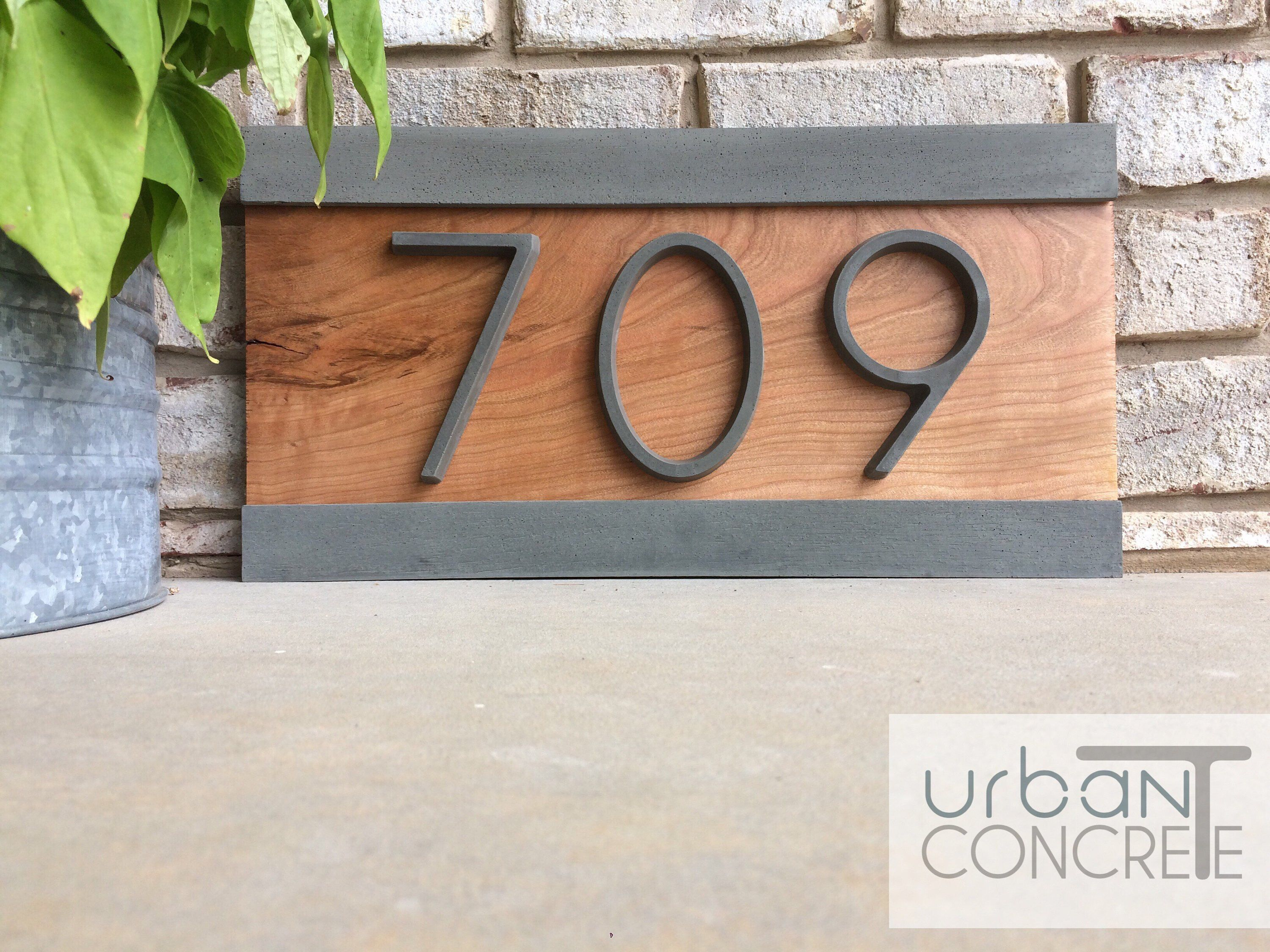 Modern House Numbers House Numbers Sign Address Plaque Custom