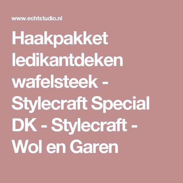 Haakpakket ledikantdeken wafelsteek - Stylecraft Special DK - Stylecraft - Wol en Garen
