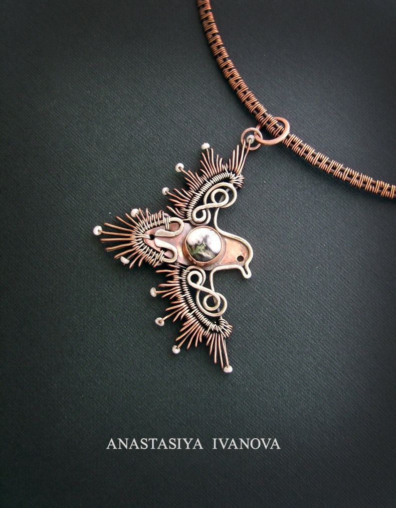 Bird pendant by nastya iv83 on deviantart wire jewelry pinterest bird pendant aloadofball Images