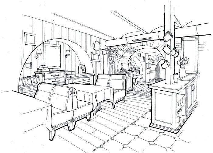 Restaurants And Cafes Interior Sketches By Belenko Design Studio