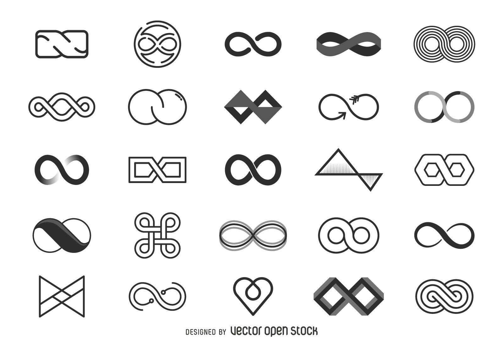 Infinity logo template collection - Free Vector | Logo design infinity,  Infinite logo, Logo templates