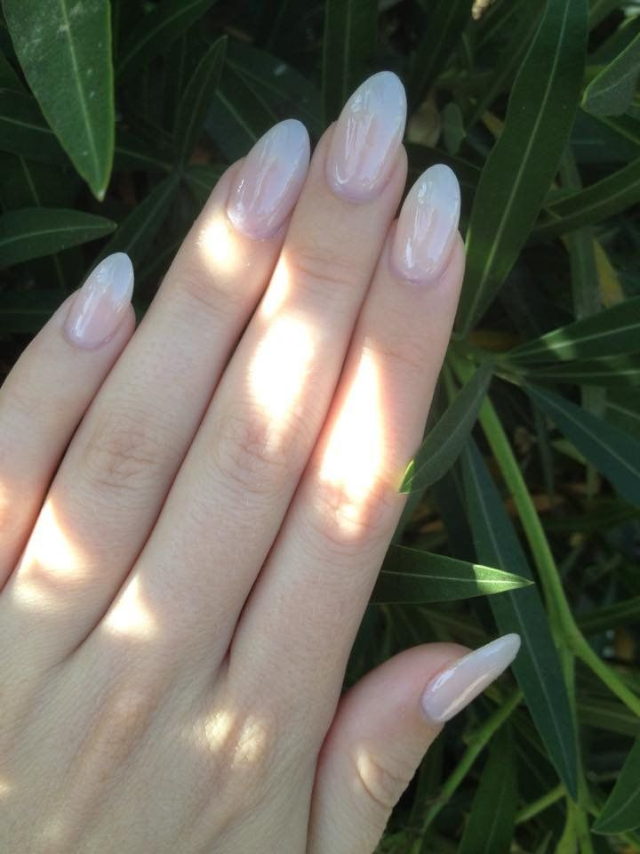 Natural Acrylic Almond Shaped Nails Done By Minh Yelp Classy Acrylic Nails How To Do Nails Almond Acrylic Nails