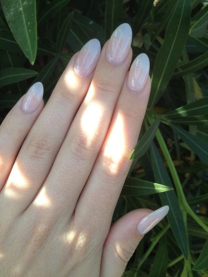 Minhly's Nails - Santa Barbara, CA, United States. Natural acrylic almond-shaped nails done by Minh!