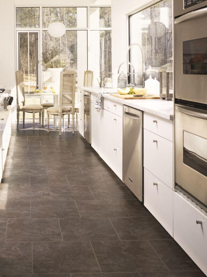 Ms201 Modernslate Charcoal Permastone Rs Kitchen Flooring Best Flooring For Kitchen Modern Kitchen Flooring