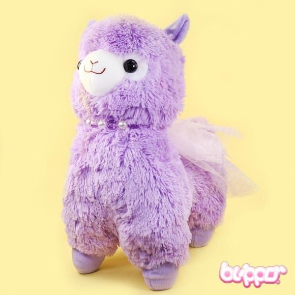 Alpacasso Plush with Pearls - Large / Purple