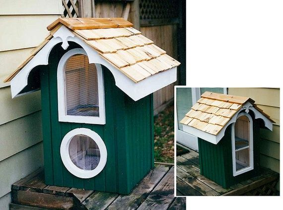 Wood Heated House ~ Local wood shops pinterest heated cat house