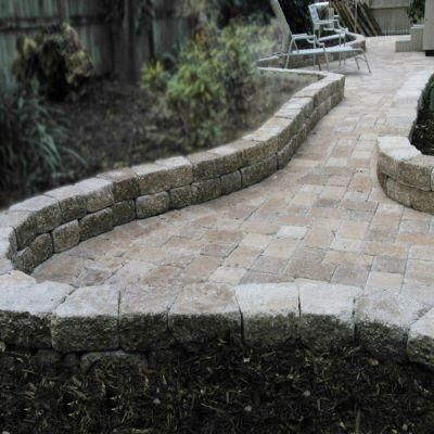 Retaining Wall Home Depot oldcastle 4 in. x 9 in. sand / tan countryside retaining wall