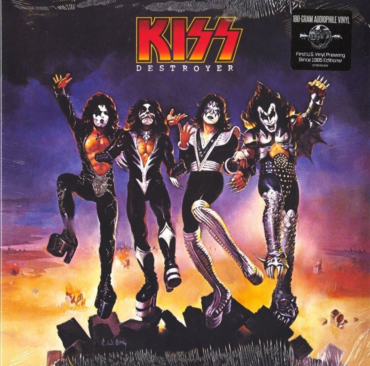 Kiss Destroyer 180g Vinyl Record New On Mercari In 2020 Kiss Album Covers Iconic Album Covers Rock Album Covers