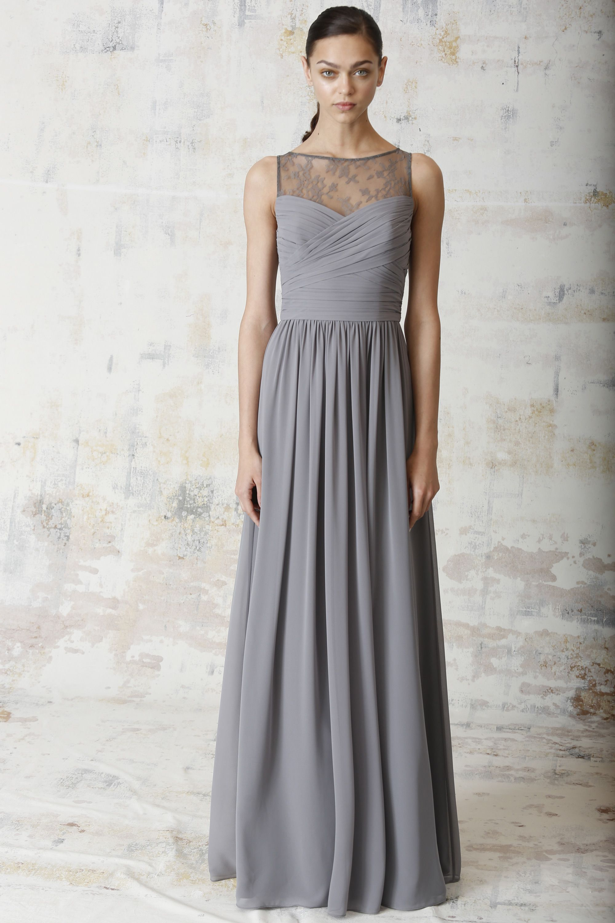 Monique lhullier ss 2015 bridesmaid 450222 slate annie and monique lhuillier bridesmaid dresses runway show spring 2015 ombrellifo Image collections
