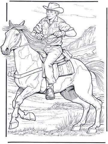 Western coloring page | Horse coloring pages, Adult coloring ...
