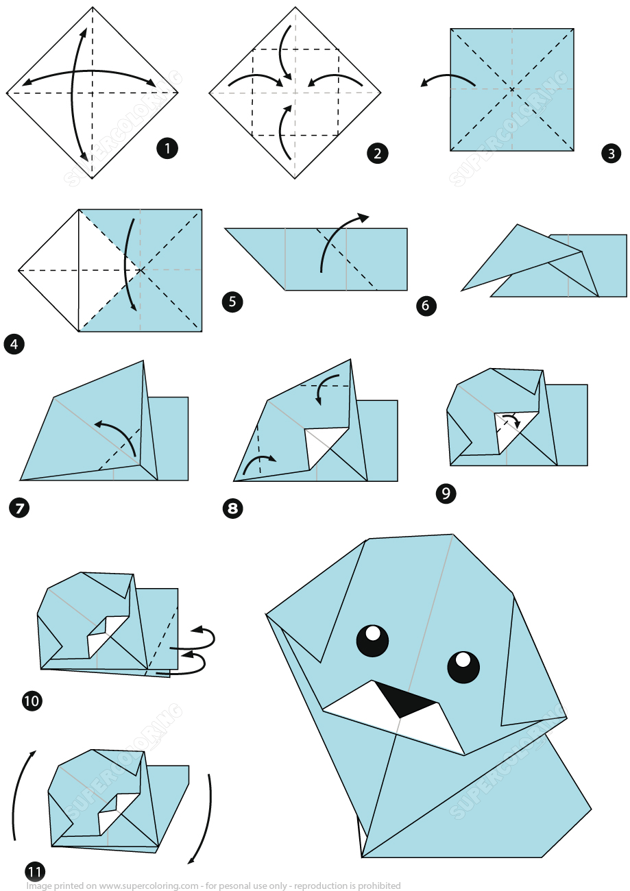 Photo of How to Make an Origami Dog Step by Step Instructions | Free Printable Papercraft…