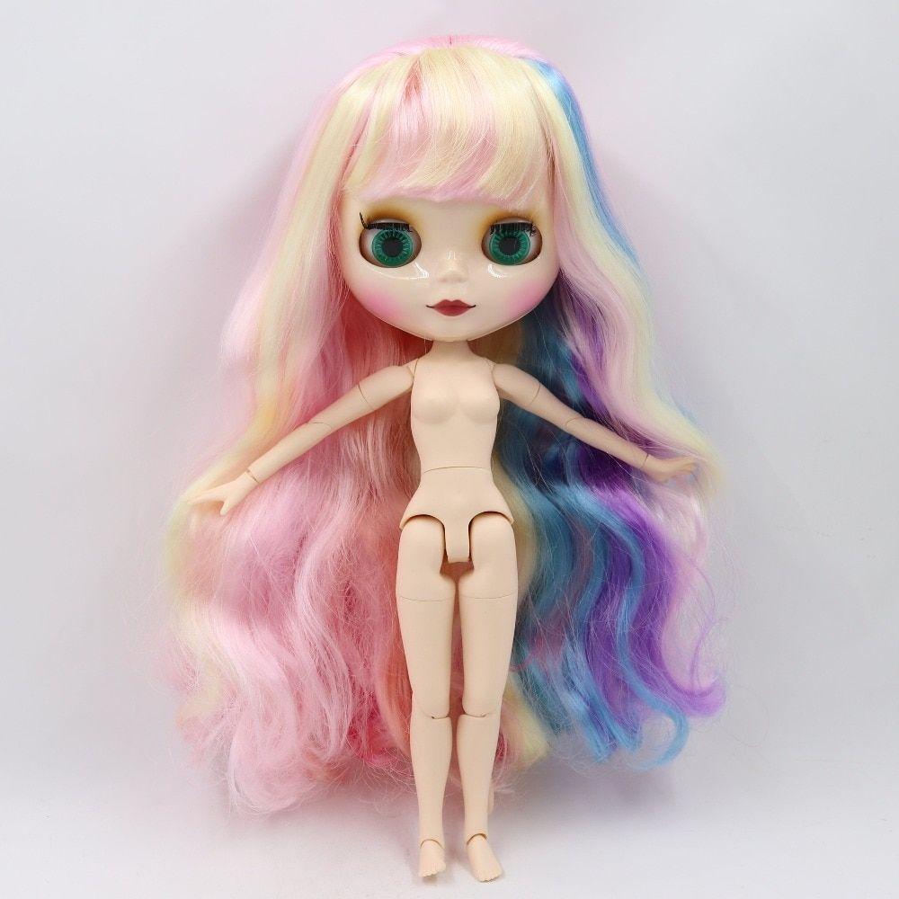 Free shipping Nude Blyth Doll, black4 hair, big eye doll