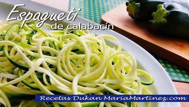 Pasta Dukan: espaguetis de calabacín (Crucero PV)