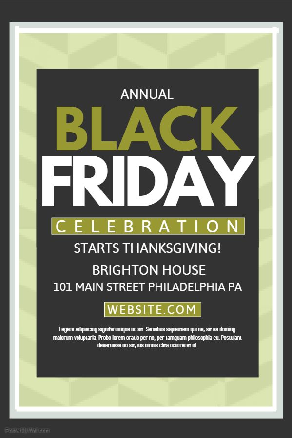 Cream Black Friday Poster Template. Click on the image to customize ...