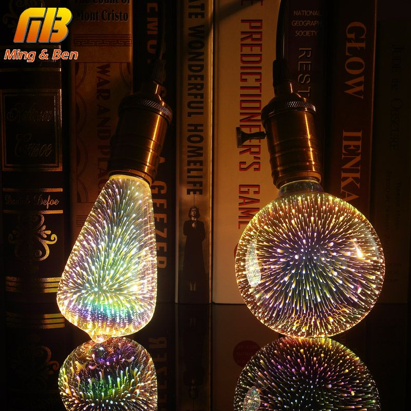 Delightful [MingBen] Led Light Bulb 3D Decoration Bulb E27 4W 220 240V Holiday Lights