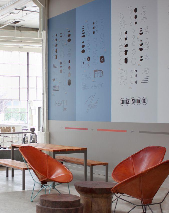 Jamey Garza Oval Chairs in Heath San Francisco Viewing Lounge