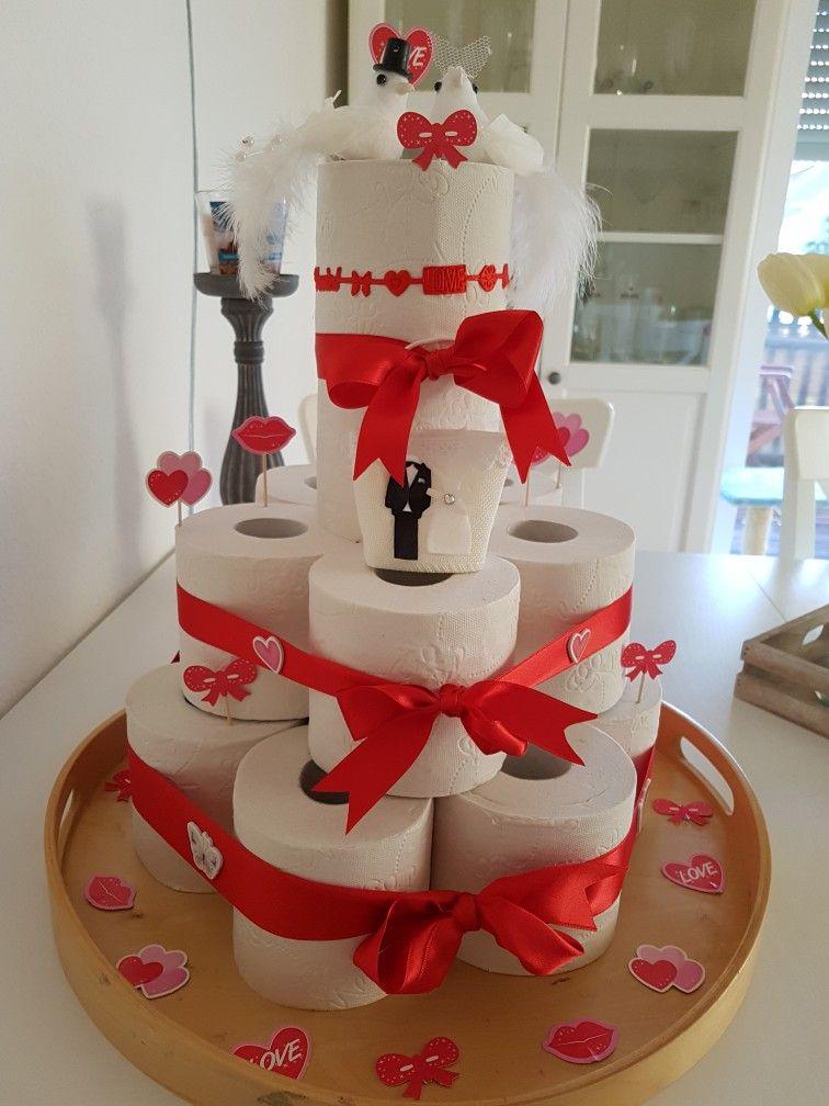 Klopapier Torte Klopapiertorte Hochzeitsgeschenk Basteln Torte Hochzeit