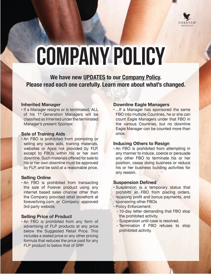 Company Policy We have new UPDATES to our Company Policy Please - company policy