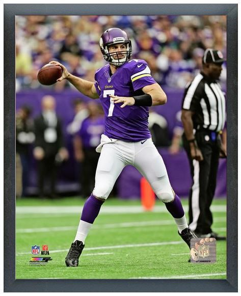 "Christian Ponder 2013 Vikings - 11"" x 14"" Photo in a Glassless Sports Frame"