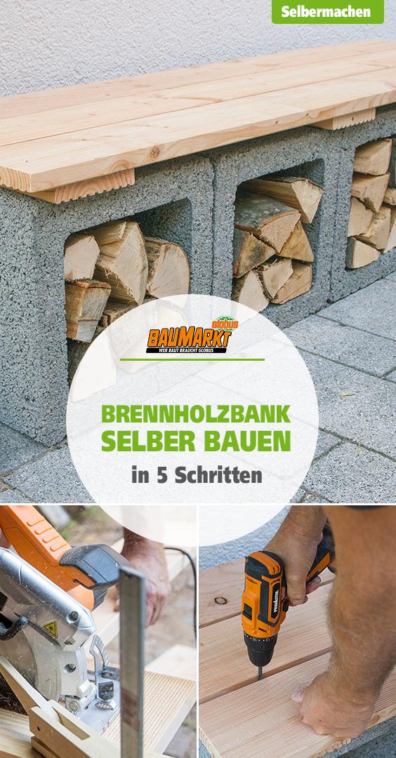 DIY Brennholzbank selber bauen
