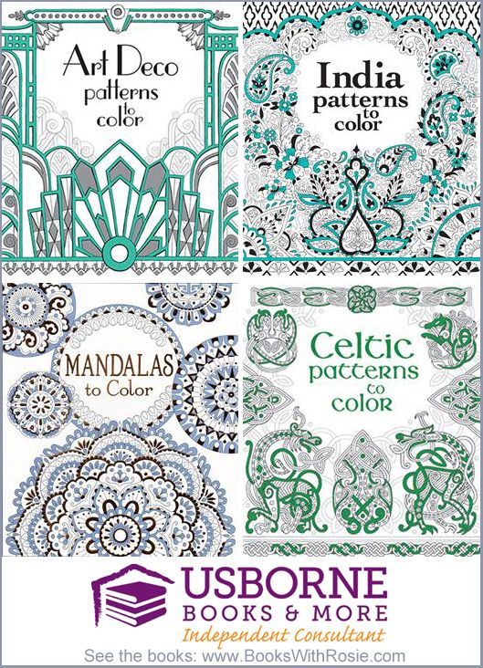 Patterns to Color Usborne Coloring Books | Books for Kids of All ...