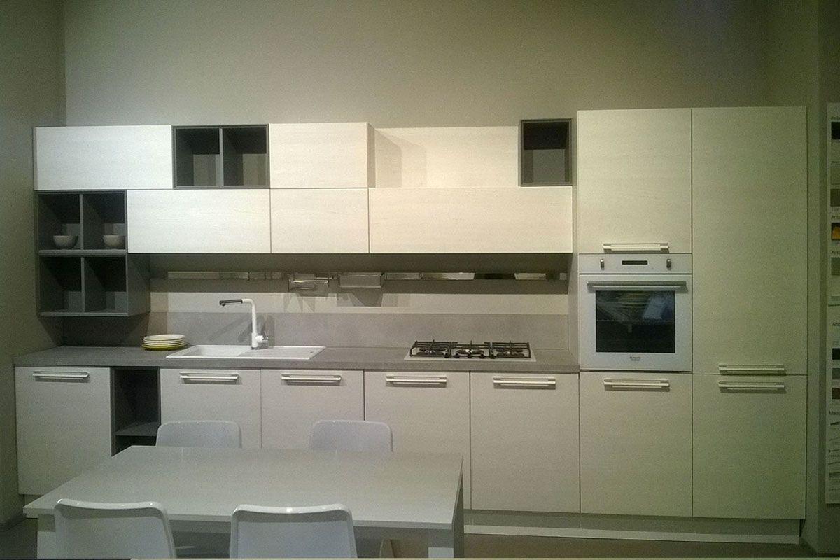 Offerta Cucina Lube Noemi laminato olmo bianco e laccato opaco ...