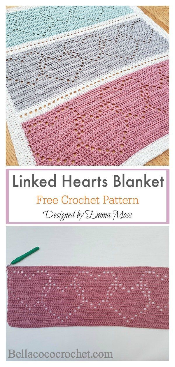 Photo of Lace Heart Baby Blanket Crochet Pattern
