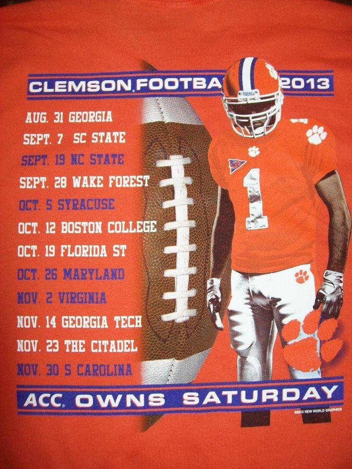 Clemson Football 2013 Schedule Clemson tigers football