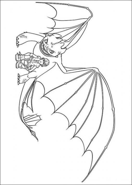 Printable Coloring Page Of How To Train Your Dragon Picture 15 550x770