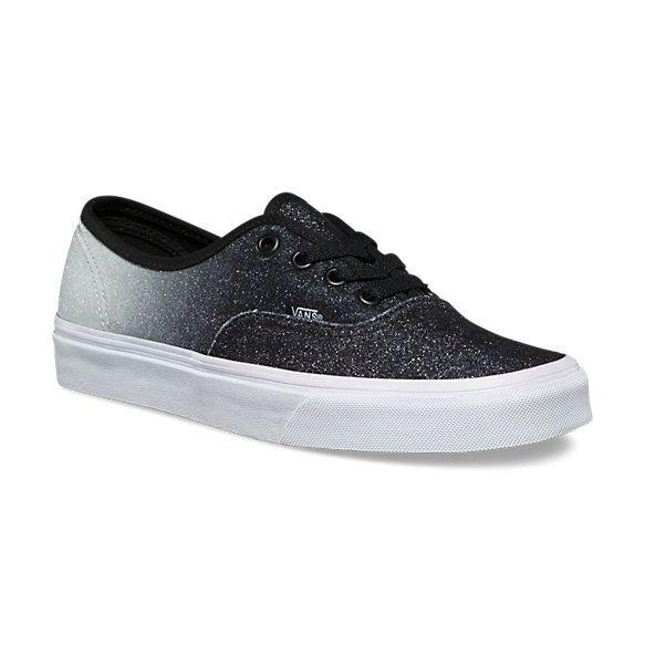 Vans 2 Tone Glitter Authentic (Silver Black) c11d6f1892b