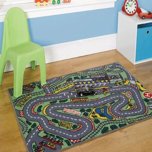 Childrens Formula One Playmat Roadmap Toy Cars Hot Wheels